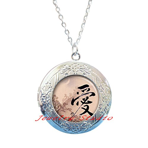 Love Locket Pendant, anniversary gift, Valentine's gift, Valentine's Day gift, romantic jewelry,Simple Locket Necklace,Daily Jewelry, Locket Necklace for friends-HZ00386 - Basics Dome Pendant