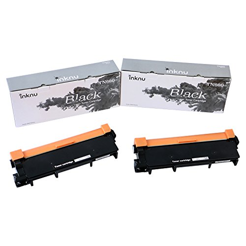 Inknu TN660(TN-660) 2-Pack Toner Cartridge for Brother - OEM Quality Prints Upgraded Easy Install Design 100% Smudge-Free by inknu