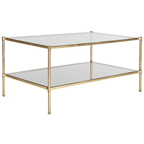 Safavieh Home Collection Aslan Gold Coffee Table ()