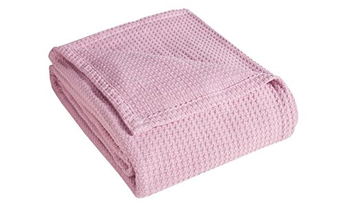 Elite Home Products Grand Hotel Cotton Blanket Full/Queen Pink