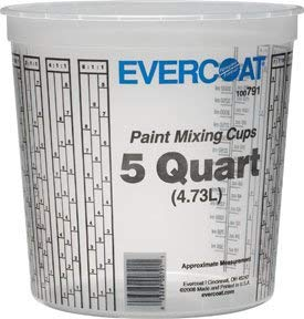 Evercoat 791 5 Quart Paint Mixing Cup (25 per Case), Pack