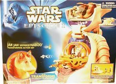 Star Wars Episode I Micromachines Jar Jar Binks/Naboo Transforming Action Set