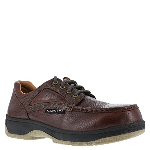 Florsheim Womens Brown Leather Casual Moc Oxford Compadre Steel Toe 7.5 D