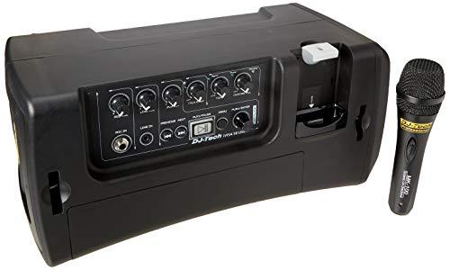 DJ Tech IVISA50LIGHT 50W Amplifier Speaker ABS Battery Portable PA System iPod Player + 1 MK100 Mic
