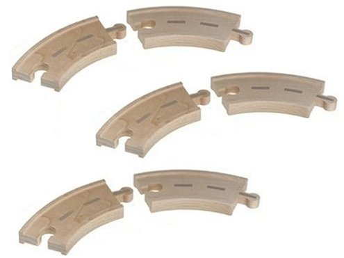 Curved Road Pack (6 pieces) - Thomas Wooden Railway Train Tank Engine - Brand New - Wooden Railway Thomas Aquarium