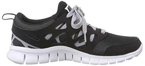 Nike Free Run 2 (GS) Zapatillas de running, Niños Negro / Blanco / Gris (Black / White-Wolf Grey)