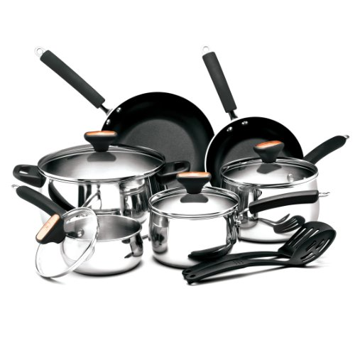 Paula Deen Signature Stainless Steel II 12-Piece Cookware for sale  Delivered anywhere in USA