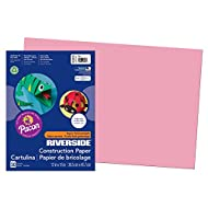 "Pacon PAC103615 Riverside 3D Construction Paper, 12"" x 18"", Pink, 50 Sheets"