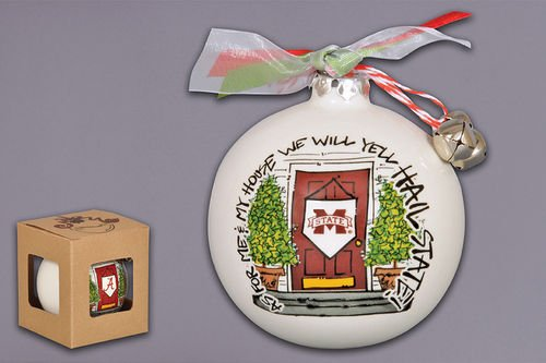 Bulldogs State Holiday Ornament Mississippi (
