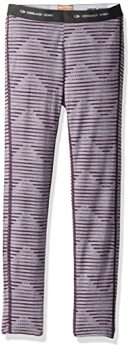 - Icebreaker Merino Kids' Oasis Leggings, Silk Heather/Eggplant, 04