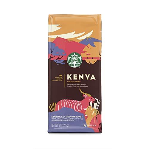 Starbucks Premium Select Collection, Kenya African Blend Medium Roast Coffee, Whole Bean, 6 Bags of 9 oz.