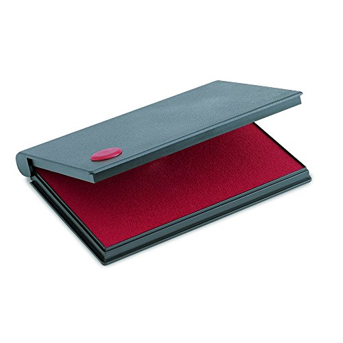 2000Plus Stamp Pad, Felt, Size No.1, Red Ink (Cosco Felt Stamp Pad)