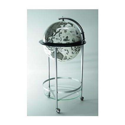 Wondrous Black And White Globe Drinks Bar Cabinet Metal Amazon Co Home Interior And Landscaping Eliaenasavecom