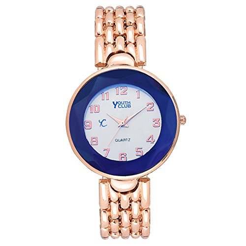 Youth Club Elegant Copper Numerical Analog White Dial Girl's Watch-CNT-CPR