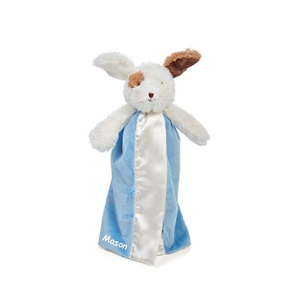 BUNNIES BY THE BAY Personalized Friend Skipit Puppy Bye-Bye Buddy Baby Blanky Blanket – Salty Blue