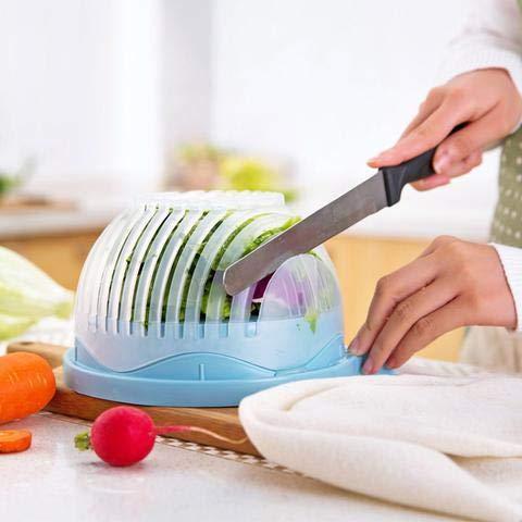 ENYAA 2018 Modell Hohe Salatsch/üssel 60 Sekunden Salatbereiter Gem/üseschneider Sch/üssel Obstsalat Maker Salatschneider Schleuder f/ür Zuhause K/üche FDA-genehmigte hohe Version Sch/üssel