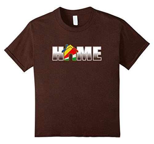 Seychelles T-shirt (Kids My home is in Seychelles T-Shirt 12 Brown)