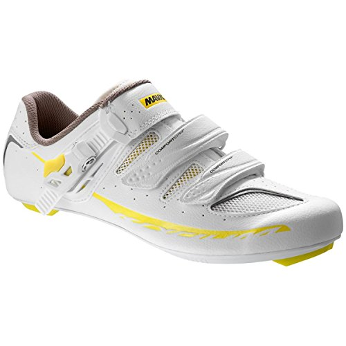 Mavic Ksyrium Elite II Shoes - Women's White/Colza Yellow/Grey, US 9.0/UK 7.5 by Mavic