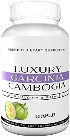 Luxury Garcinia Cambogia - 100% Premium Extra Strength Weight Loss Formula with HCA, All Natural Appetite Suppressant, Fat Blocking and Metabolism Boosting Formula, Non-GMO, Gluten Free, Dairy Free