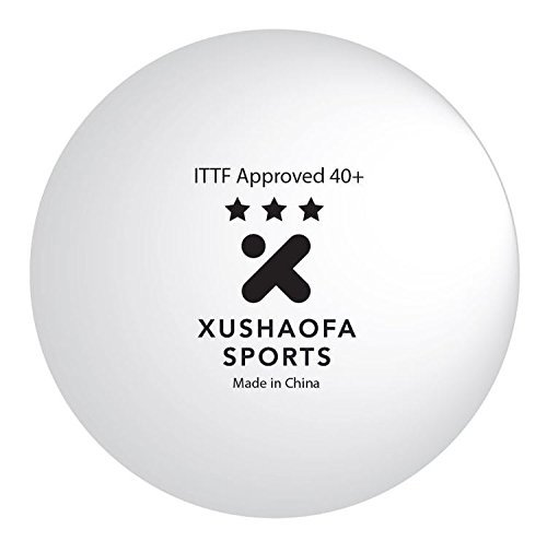 Xushaofa 40+ Seamless Poly Table Tennis Balls - 3 Star (6 Balls)
