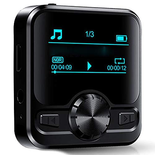 DFCHT MP3 Player,HiFi Bluetooth 4.2 MP3 Player with HiFi Lossless Sound Portable Digital Music Player FM Radio Voice Recorder 1.2'' OLED Display