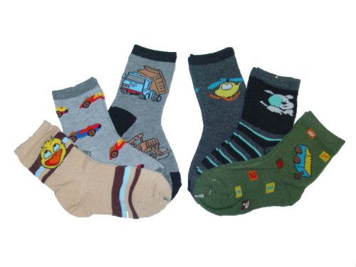 4-6 6 Pack Toddlers Boys Kids Socks Accessories Size M
