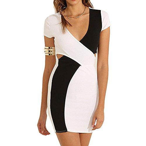 Eliacher Women's Casual Sexy Bodycon Summer Dress 6592 (XXL, 1) (Sexy Plus Dress)