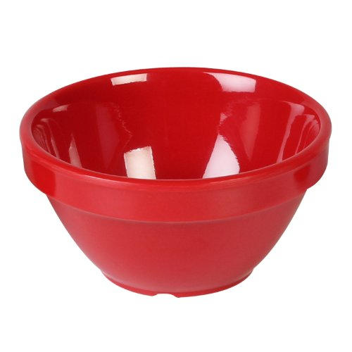 Excellante Crimson Melamine Collection Boullion Mug, 8-Ounce, Pure Red