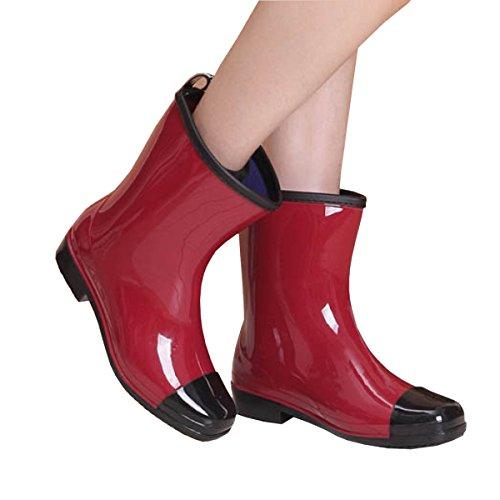 HOPE Männer Frauen Regen Stiefel Wasser Schuhe Wasser Anti-Schlamm Vier Jahreszeiten Anti-Rutsch Tasteless Nicht-toxisch,C-a F