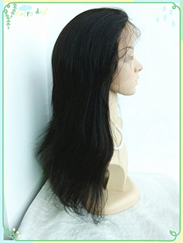 100% Chinese Virgin Human Hair,light Yaki Texture,high Ponytail Glueless Full Lace with Silk Top,in Stock Wigs--bw1201-18'' by April silk top wigs (Image #2)