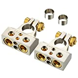 Freajoin Car Battery Terminal Connectors Kit 0/2/4/8/10 AWG Positive Negative Battery Terminals with 2 Shims, 1 Pair
