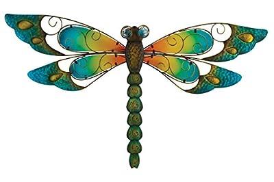 Regal Art &Gift Dragonfly Wall Decor, 29-Inch, Blue
