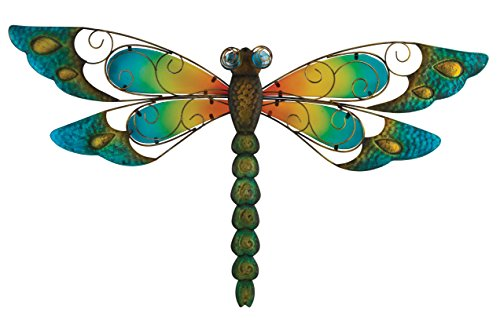 Regal Art &Gift Dragonfly Wall Decor, 29-Inch, Blue