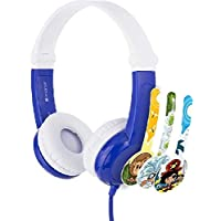 BuddyPhones - Connect Foldable On-Ear Wired Headphones - For Kids Portable Headset Volume Limiting Children Headphones…