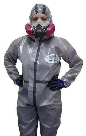 Chemsplash 2(R), Hood, Gray, Boots, XL, PK6