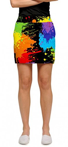 Cute golf skorts. Loudmouth golf skorts for women. Loudmouth Golf Womens Paint Balls Skort Black Multi 10