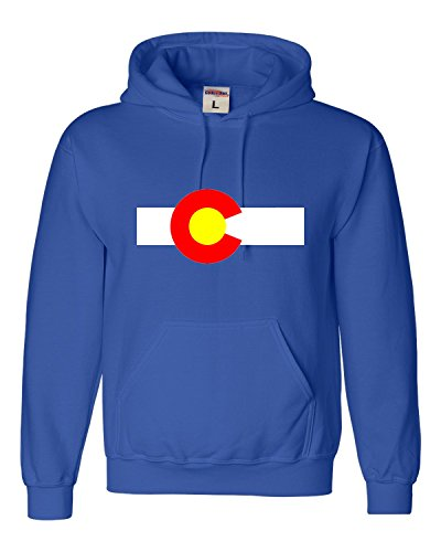 State Flag Sweatshirt (Small Royal Blue Adult Colorado State Flag Sweatshirt Hoodie)