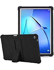 Huawei MediaPad T5 10.1 inch Black Shock Absorbent Silicone Case with stand Cover