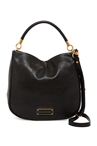Marc Jacobs Too Hot To Handle Leather Hobo Crossbody Shoulder Bag (Black) ()
