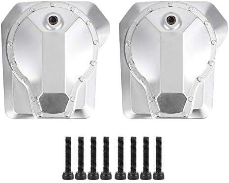 Caja de la cubierta del diferencial del eje de transmisión, Caja de la cubierta del diferencial de metal RC Eje de transmisión trasero delantero Compatible con Traxxas TRX4 1/10 RC Crawler Car: