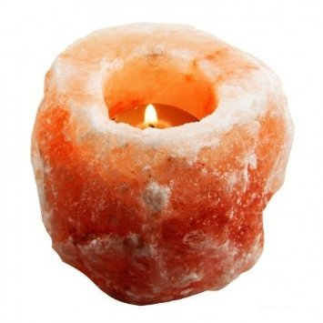 Natural Himalayan Crystal Rock Salt Candle Holder by Rocking