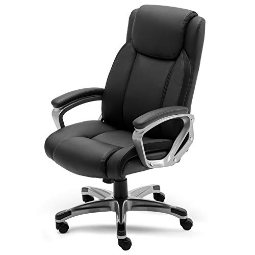 ANJ High-Back Executive 360 Degree Swivel Office Computer Desk Chair, Black