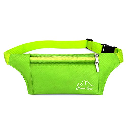 Price comparison product image DuShow Outdoor fitness travel multi - functional sports Workout Exercise Running Waist Belt Pouch Bag (Green)