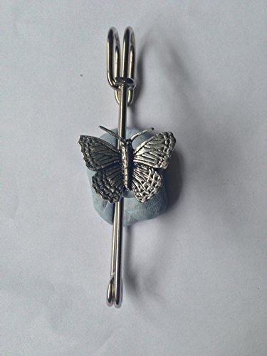 C2Kilt Petit Papillon écharpe Broche ou emblème en étain 7,6cm 7,5cm fait à la main à Sheffield