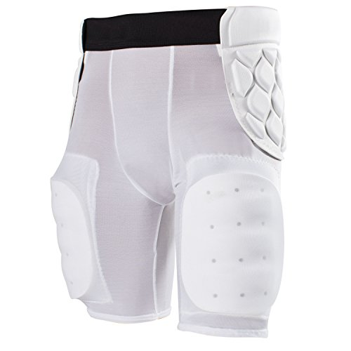 Football Foam Tail - Cramer Classic 5-Pad Football Girdle With Dual Layer Hip Pointer Protection, and Tailbone and Thigh Pads, Moisture-Wicking Fabric, Dual Layer Foam for Extra Protection, White, X-Large