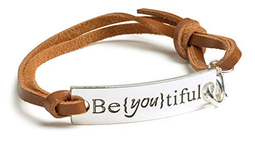tiful Inspirational BROWN LEATHER Bracelet product image