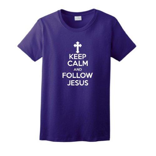 Keep Follow Jesus Ladies T Shirt