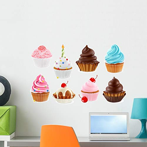 Wallmonkeys Cupcake Fairy Cake 3D Wall Mural Peel and Stick Vinyl Graphic (24 in W x 15 in H) WM525149
