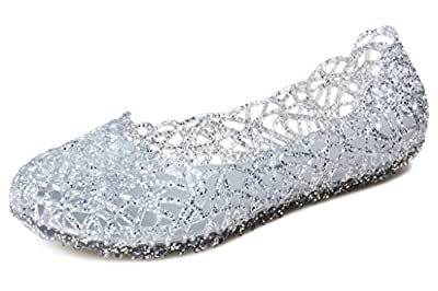 Kunsto Women's Bird Nest Jelly Ballet Flats (UP to