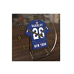 USA American Football Team Table Clocks - All N F L Colours Available - 7 X 7 X 2 Jersey Themed Desktop Clocks ! (New York Blue Edition)